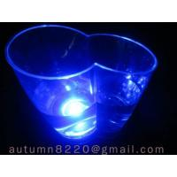 China decorated LED blue light ice buckets wholesale