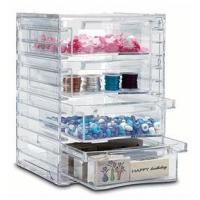 China Tower Design Acrylic 4 Drawer Organizer With Quick Delivery wholesale