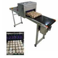 China Industrial Software Operation Egg Printing Machine , HD Inkjet Printer For Eggs wholesale