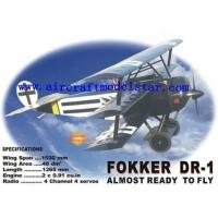 Quality Fokker DR-1,wingspan1530mm remote control plane for sale