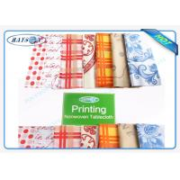 China Pringting And Without Printing 45 Gr / 50Gr / 70Gr Non Woven Fabric Tablecloths Cutting Packing wholesale
