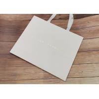 China Degradable Luxury Cloth carrying shopping bags SGS,FDA certificate with white fabric Handle and Hot stamped logo wholesale