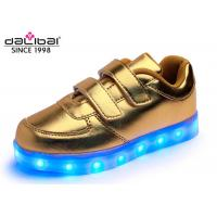 China Gold Baby Light Shoes Active Kids Flashing Trainers 3 Hours Charging Time wholesale