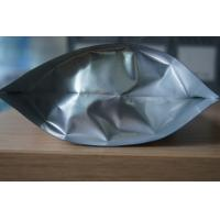 Quality Glossy Plain Silver Stand UP Foil Pouch Packaging Ziplock for Food Packaging for sale