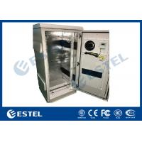 China Single Wall Galvanized Steel Outdoor Communication Cabinets Grey RAL7035 Color on sale