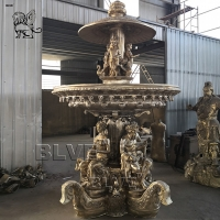China Large Bronze Garden Fountain 3 Tire Greek Statue Material Brass Landscaping Products wholesale