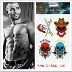 China Skull tattoos,tattoo sticker,tattoos,new designs,fit for man wholesale