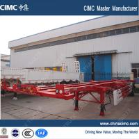China container chassis , single axle 40 tons 20ft 40ft skeletal container chassis trailer wholesale