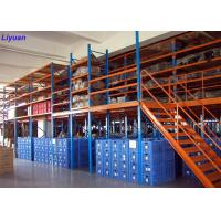 China Stronger Structure Mezzanine Racking System Steel Platform Shelve Robot Welding on sale
