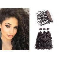 China Remy 9A Water Wave Hair Bundles With Frontal Tangle Free And Silky Touch wholesale