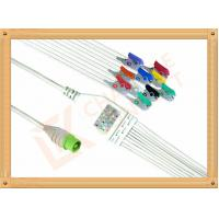 China Green NEC One Piece Ecg Accessories Cable10 Lead Clip AHA Durable PU Material Cable wholesale