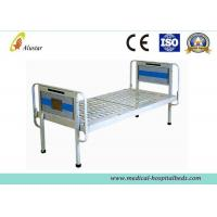 China Electronic Powder Coated Simple Medical Hospital Beds Steel Frame Flat bed (ALS-FB001) wholesale