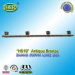 China Ref No zamak H019 zinc casket long bar  metal coffin hardware 1.55 meter long with 4 bases wholesale
