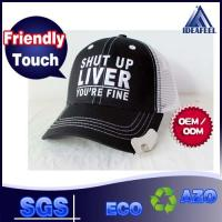 China Silver Bullet Mesh Trucker Hats For Opening The Bottle Cover Embroidering 3D Logo wholesale
