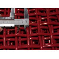 China Red Woven High Carbon Wire Mesh Firm Structure Long Service Life For Mining / Coal on sale
