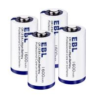 China Eco-friendly 3V CR123A Lithium Battery 1600mah 4 Packs with Battery Case wholesale