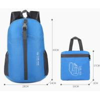 Buy cheap Custom 600D Nylon Outdoor Lightweight Foldable Travel Mochilas Bag Wholesales from wholesalers