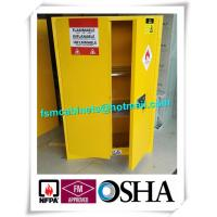 China Yellow Flammable Safety Cainets , Industry Flame Proof Storage Cabinets wholesale