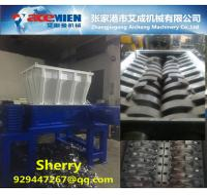 China Double shaft shredder Machine waste Tire crusher Plant Waste plastic Shredder tire crusher shreeder machine wholesale