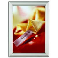 China 20 Mm Wall Mount Poster Clip Frames , Single Side A3 Silver Snap Frames wholesale