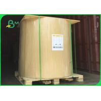 China 30 - 50gsm Pure Wood Pulp MG Kraft Paper Brown / White Color For Food Packing wholesale