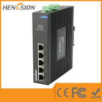 China Din Rail Unmanaged Ethernet Gigabit 5 Port Network Switch  1Gbps 0.9Mpps wholesale