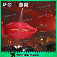 China Cartoon Advertising Inflatables Balloon , Giant Mouth Red Lip Customized Character wholesale