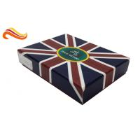 China UK Flag Top and Base Handmade Wallet Apparel Gift Boxes , Customized 1200g Rigid Board Packaging Boxes wholesale