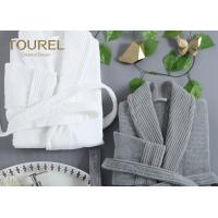 China Night Dress Unisex Homewear Fashion Coral Fleece Bathrobe White Or Grey Customized wholesale