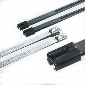 China Waterproof Braided Stainless Steel Cable Ties , Reinforced Cable Ties Antirust wholesale