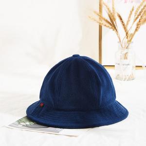 China Navy Blue Warm Winter Thick Fishing Bucket Hats Custom Logo wholesale