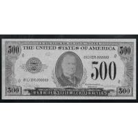 China Silver $500 Dollar Bank Note US Banknote Uncirculated Bill wholesale