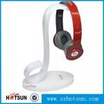 China High quality earphones holder,custom made clear acrylic earphones holder headphone display stand wholesale