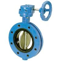 China Concentric rubber seat double flange butterfly valve wholesale