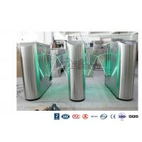 China Underground Entrance Flap Barrier Gate Optical Turnstile ESD System DC 24V Brush wholesale