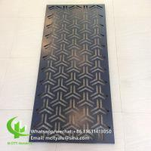 China 600x1200mm Aluminium Sheet Wall Cladding ,  Perforated Aluminum Cladding Panel  Wall Decoration wholesale