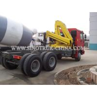 China 6×4 Prime Mover Truck Mounted Hydraulic Crane Red / Yellow Model ZZ4257N3247W wholesale