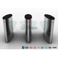 Waist Height Access Control Turnstile Barcode Flap Barrier for Museum