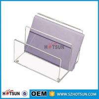 China china factory wholesale clear acrylic desk organizer with rubber feet wholesale