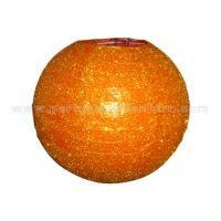 China Orange Glitter Round Paper Lanterns , Lighted Paper Lanterns For Weddings , Parties wholesale