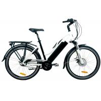 China Black City E Bike with 8FUN Rear Hub Motor , Lithium Battery and TGS Front Fork wholesale