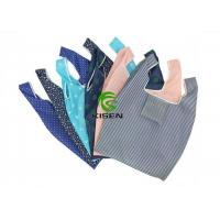 China Customized Folded Reusable Polyester Shopping Bags Eco Friendly Lightweight on sale