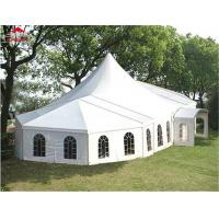 China Round High Peak Tent With Colorful Roof Cover Digital Printing Logo on sale