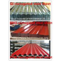 China 0.50mm*840mm*3000mm roof plate PPGI corrugated steel sheet wholesale