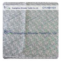 China Green Double Color Matalic Embroidered Lace Fabric / Dressmaking Fabric wholesale