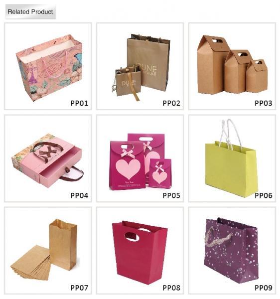 Plain brown kraft paper bag with Twistedstring handle 120gsm paper bag for food packaging