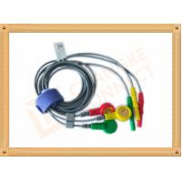 China Durable Din Style Safety 3 Lead Ecg Cable With PU Material , IEC Standard wholesale