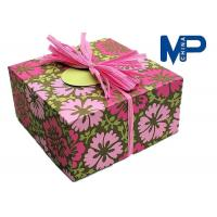 China Lock Fashionable Square Texture Paper Gift Boxes For cloth / shoes wholesale