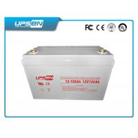 China 12V High Rate UPS battery sealed valve regulated Lead acid battery , grey on sale