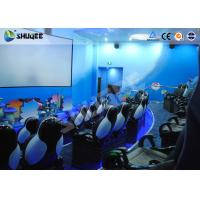 China Amusement Park Animatiom 4D Movie Theater With Black Leather Pneumatic Seats wholesale